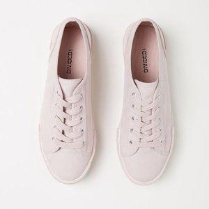 H&M Suede Platform Sneakers